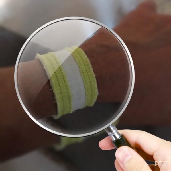 Impuls-Leinen-Armband apfelgrün