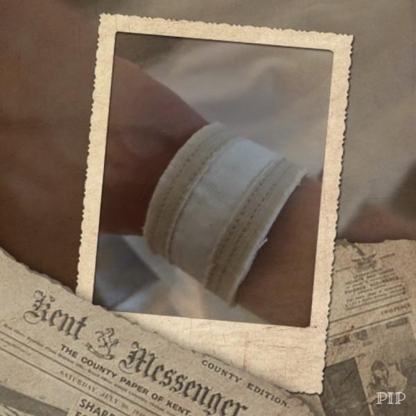 Impuls-Leinen-Armband beige